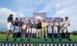 Winning team Harry Winston presented with Royal Salute Jubilee Cup whisky tumbler by Duke of Argyll