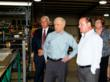 Sen. Sessions views Exxel's machinery with Haleyville Mayor Ken Sunseri, Exxel CEO Harry Kazazian and Exxel VP Barbara Garrison