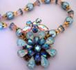 Blue Opal Flower Necklace