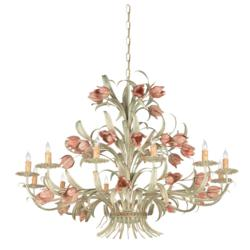 Southport Handpainted Wrought Iron Chandelier