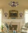 Cristallo Fiore Semi Flush Floral Lighting Fixture From ELK Lighting