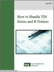 How to Handle TIN Errors and B Notices""