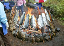 Native American, Suttle Lake, Salmon Bake