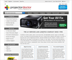 Projector Doctor, LCD / DLP Projector Repair Services Company, Launches New Site