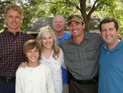 "This picture was taken on set after filming a scene of ""I Am Gabriel"" with stars Elise Baughman, Dean Cain, John Schneider, Gavin Casalegno, and Carey Scott.  Mike Norris directed the film, which was just released on DVD."