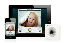 The BabyPing Wi-Fi Baby Monitor can be viewed on iPhone, iPad and iPod Touch