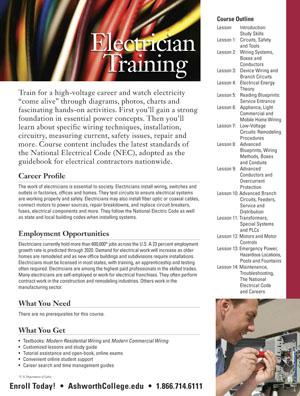 Electrician universities course
