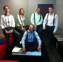 The RAZR Marketing team wears suspenders fo SIBTEMBER.