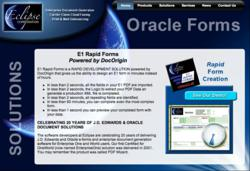Oracle E1 Rapid-Forms Screen