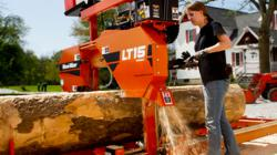 A homeowner is able to use her Wood-Mizer LT15 sawmill to make her own lumber.