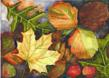 This is a Business Greeting Card with the image of a Fall Leafs.