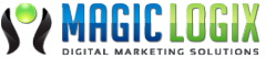 Magic Logix's logo symbolizes growing client business by merging creativity, technology and digital marketing.