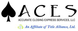 An affiliate title joint venture of Title Alliance, Ltd. Accurate Closing Express Services