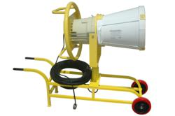 An Explosion Proof Metal Halide Light with Manhole Mounting and Easy Transportable Cart