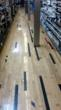 Installed as flooring with the original finish, including school colors, the resulting color schemes create a random and playful reminder of the wood's source
