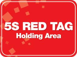 Red Tag Area Floor Sign