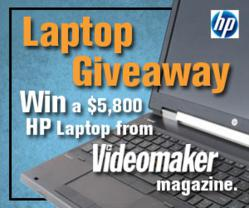 Win a free HP video editing laptop from Videomaker magazine.