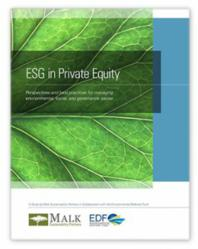 Malk Sustainability Partners and Environmental Defense Fund Study Announces Growing ESG Expertise, Capacity and Commitment