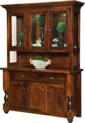 Turned legs and an elegant design mark the Woodmont Hutch.