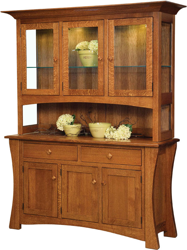The New Arts And Crafts Dining Hutch At Brandenberry Amish Furniture Digs Deep Into Traditional