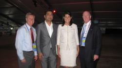 USINPAC Chairman Sanjay Puri with SC Gov Nikki Haley at USINPAC reception at RNC