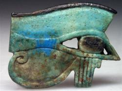 A HUGE Egyptian Faience Wedjat Eye