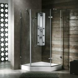 Neo-Angle Frameless Shower Enclosure From Vigo Industries