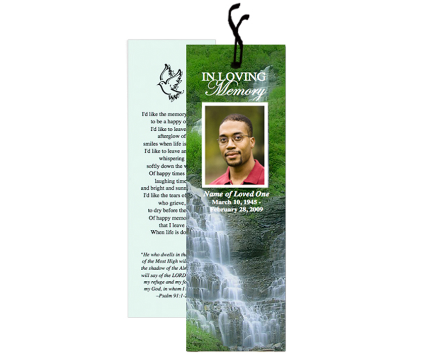 free memorial bookmark template download - the funeral program site releases new templates for