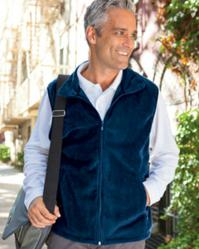 Harriton M985 Men's Fleece Vest