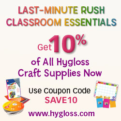 Get 10% Off all Hygloss Craft Products