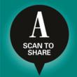 Readers scan the Ad Age branded icon to share articles via their mobile phone.