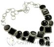 Black Cluster Onyx Necklaces by South of Exotic