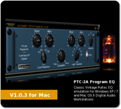 OverTone PTC-2A Pultec EQ plug-in for PC and Mac OSX