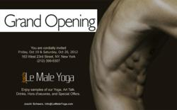 Grand Opening Celebration at Le Male Yoga, New York City