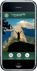 The new mobile site for the Yosemite Sierra Visitors Bureau displays comfortably on all mobile devices.