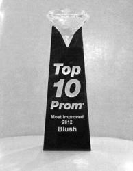 Blush Prom - Receives Most Improved 2012 Award from Top 10 Prom