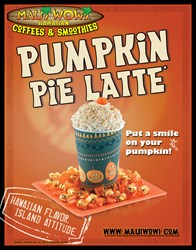 Maui Wowi's Pumpkin Pie Latte- Available this fall
