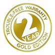 An industry first, the Pro 4's Two-Year, Trouble-Free Warranty Gold Edition features parts, labor and two scheduled service visits.