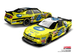 Ricky Stenhouse Jr.'s No. 6 Nationwide series Ford, sponsored by Blue Bird Corporation and ROUSH CleanTech