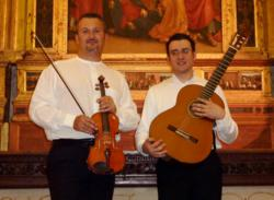 Sator Duo perform Spanish and South American traditional folk dances on the violin and guitar.