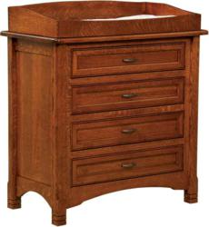 The West Lake Four Drawer Changer Chest offers space and strength.