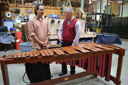 Ron Samuels and Dennis Plies with the original Marimba One