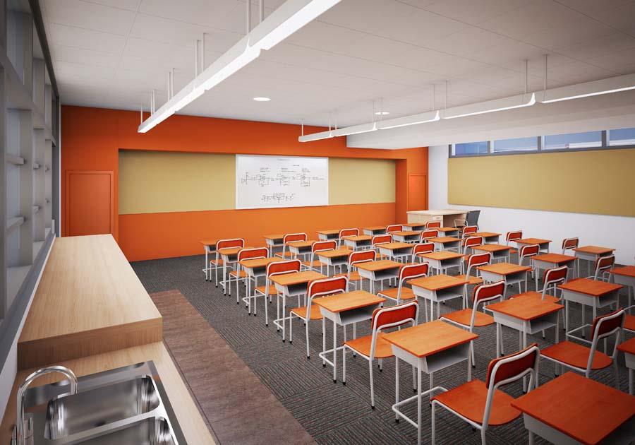 Orange county classroom gets greenovated - Interior design institute orange county ...
