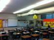 "A ""before"" picture, of the classroom, prior to its greenovation."