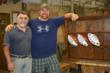 Matt and Stephen in the wood shop