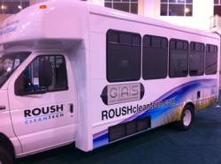Propane autogas fueled Ford E-450 shuttle bus converted by Green Alternative Systems