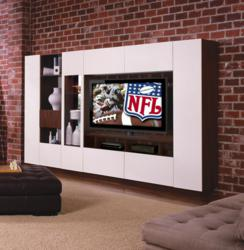 white entertainment center