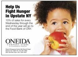 Oneida's Spoonful for Hunger Program