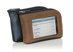Leather iPhone Wallet - Shown in Black and Brown leather