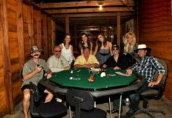 "The Texas Poker Store's cast and crew for the ""I May Be Bluffin'"" Music Video"